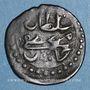 Münzen Tunisie. Ottomans. Mustafa III (1171-1187H). Burbe bronze 1176H. Tunis