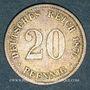 Münzen Allemagne. 20 pfennig 1874 F