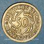 Münzen Allemagne. République de Weimar. 50 rentenpfennig 1924 F