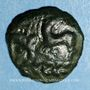 Münzen Aulerques Eburovices. Région d'Evreux. Bronze  aux animaux affrontés, 2e moitié du 1er s. av. J.-C