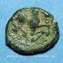 Münzen Bellovaques. Région de Beauvais. Bronze à l'astre, vers 60/35 av. J-C