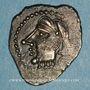Münzen Bituriges Cubi. Région de Bourges. Denier au glaive et au pentagramme. 1er siècle avant J-C.