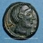 Münzen Carnutes. Région de Chartres - Pixtilos. Bronze à la déesse assise, classe V, vers 40-30 av. J-C