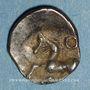 Münzen Eduens. Bourgogne. Quinaire à la tête casquée, 1er siècle av. J-C