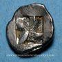 Münzen Marseille. Hémiobole milésiaque à la tête de lion, 500-470 av. J-C. Type du trésor d'Auriol