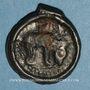 Münzen Rémi. Région de Reims. Potin au bucrâne, 1er siècle av. J-C.