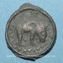 Münzen Rémi. Région de Reims. Potin au bucrâne, 1er siècle av. J-C