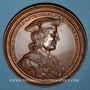 Münzen Lorraine. Ferry II, comte de Vaudémont et Islande d'Anjou. Médaille en bronze