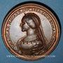 Münzen Lorraine. Ferry III (1251-1303) et Marguerite de Navarre. Médaille en bronze