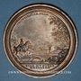 Münzen Lorraine. Léopold I. Reconstruction des Ponts et Chaussées. 1727. Médaille en bronze. 63 mm