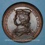 Münzen Lorraine. Simon II (1176-1203) et Ide de Vienne. Médaille en bronze