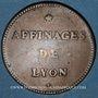 Münzen Affinages de Lyon. Jeton cuivre 1744