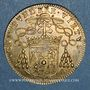 Münzen Archevêché de Bourges. Jean IV de Montpezat de Carbon. Jeton cuivre jaune 1666