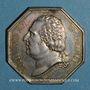 Münzen Assurances. Assurances Générales. Assurance incendie 1818. Jeton argent. Poinçon: lampe