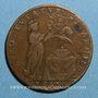 Münzen Bourgogne. Chambre des Comptes. Jeton cuivre 1648