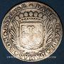 Münzen Bourgogne. Honoré de Cherriers. C. des Mauris et son épouse Claude Damas. Jeton argent