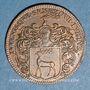 Münzen Bourgogne. Mairie de Dijon. Jacques de Frasans. Jeton cuivre 1662