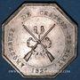 Münzen Château Thierry. Arquebusiers. Jeton argent 1827. Sans poinçon