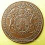 Münzen Etats de Bourgogne. Nicolas Labotte, trésorier de France, vicomte, maire de Dijon. Jeton cuivre