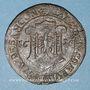 Münzen Franche-Comté. Besançon. Chambre des comptes. Ferdinand II. Jeton cuivre 1628