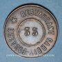 Münzen Lyon (69). Restaurant Garbit-Fougère. N° 33. Jeton cuivre