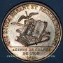 Münzen Lyon. Agents de change. Jeton argent 1816. Poinçon : lampe