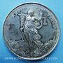 Münzen Lyon, Essai de soie des fabricants et des marchands réunis, jeton argent 1882. Corne d'abondance