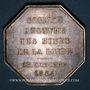 Münzen Mines. Saint-Etienne. Mines de la Loire. Jeton en argent 1874