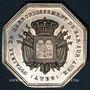 Münzen Notaires. Bar-sur-Aube. Jeton argent 1840. Poinçon : main indicatrice