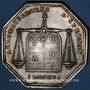 Münzen Notaires. Epernay. Jeton argent. Poinçon : main indicatrice