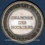 Münzen Notaires. La Rochelle. Jeton argent. Poinçon : abeille