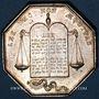 Münzen Notaires. Pithiviers. Jeton argent. Poinçon : lampe antique