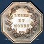Münzen Notaires. Saint-Amand. Jeton argent. Poinçon : corne d'abondance