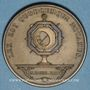 Münzen Notaires. Saint-Etienne. Jeton bronze. Poinçon : corne d'abondance