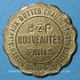 Münzen Paris (75). Au Buttes Chaumont. Habillements, chaussures, chapellerie. Bon pour 1 prime, en laiton