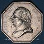 Münzen Paris. Commissaires Priseurs. Louis XVIII. Jeton argent. Sans poinçon