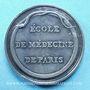 Münzen Paris, Ecole de médecine, jeton argent. Sans poinçon