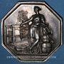 Münzen Seine, Chambre Syndicale des Tissus, jeton argent. Poinçon : abeille