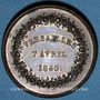 Münzen Versailles, Société d'horticulture de Seine-et-Oise, 1840, jeton cuivre 27,7 mm
