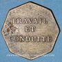 Münzen Vesoul. Lycée. Jeton octogonal en laiton 25,6 mm