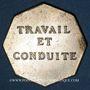 Münzen Vesoul, Lycée, jeton octogonal en laiton argenté 25,5 mm