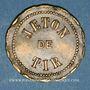 Münzen Vesoul. Société de tir. Jeton laiton. 25 mm