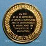 Münzen Bataille de Valmy. 1792. Médaille vermeil. Frappe moderne !