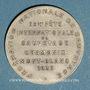 Münzen Chamonix. 29e fête internationale de sauvetage. 1935. Médaille bronze argenté