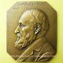 Münzen Charles Gide. 1847-1932. Médaille en bronze rectangulaire. Gravée par C. Fernand-Dubois