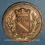Münzen Charles X (1824-1830). Visite de Troyes, 17 septembre 1828. Médaille bronze. 41,3 mm