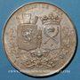 Münzen Chemin de fer St Etienne à Lyon 1826, médaille argent 36,5 mm. Tiolier. Poinçon : lampe antique