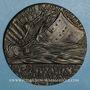 Münzen Grande-Bretagne. Torpillage du Lusitania. 1915. Médaille fer