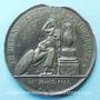 Münzen Hommage des lyonnais au général Foy. 1825. Médaille plomb-étain. 55 mm