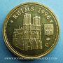 Münzen Jean-Paul II. Visite en France. Reims. 1996. Médaille en argent doré. 20 mm